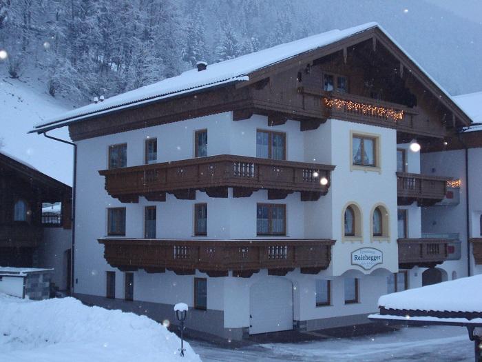 Ferienhaus Reichegger Winter Schnee