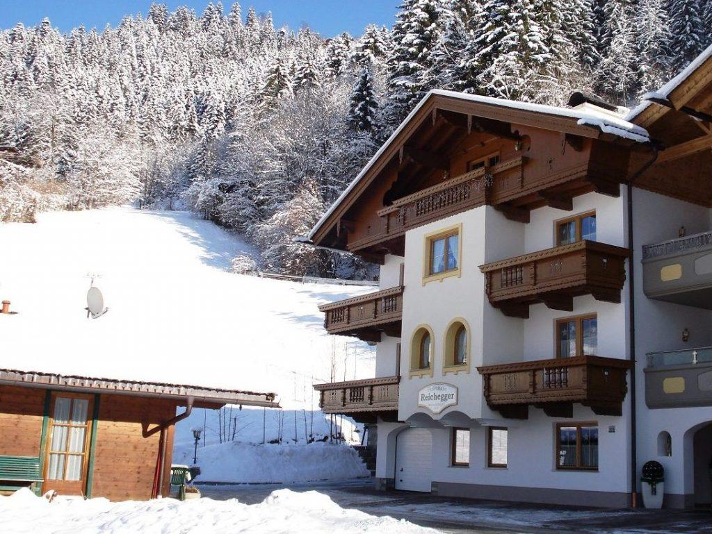 Ferienhaus Reichegger Winter Schönes Wetter