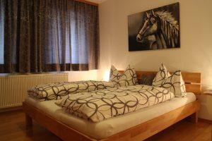 Schlafzimmer in der Ferienwohnung mit 40 qm