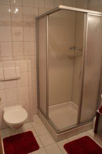 Badezimmer in der Ferienwohnung mit 40 qm